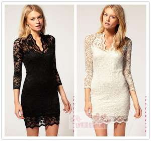 Charming Vintage Crochet Cocktail Clubwear Party Mini Dress B009