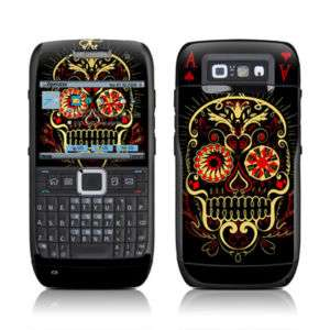Nokia E71 Skin Cover Case Decal Poker Aces Skulls