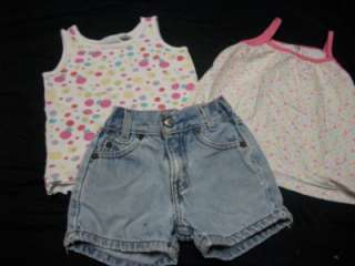 HUGE 48 LOT TODDLER GIRL 4 4T SUMMER CLOTHES SHORTS SHIRTS SKIRTS