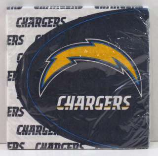 Hallmark San Diego Chargers NFL Football Party Pack of 16 Luncheon