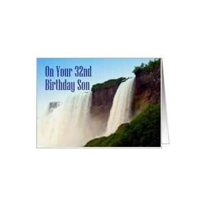 Birthday ~ Son ~ 32nd ~ Niagara Falls Canada Card Toys