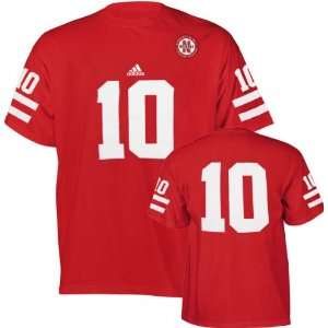 Cornhuskers Red adidas #10 Football Jersey T Shirt