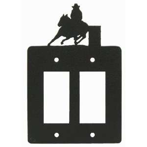 Barrel Race Double GFI Rocker Light Switch Plate Cover (b