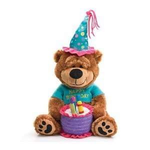 Happy Birthday Teddy Bear With Cake That Plays Happy Birthday
