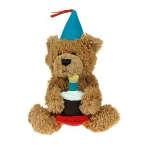 Happy Birthday Teddy Bear w/Cake Toys & Games