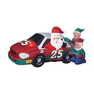 8FT   Gemmy Airblown Inflatable Stock Car Christmas Santa