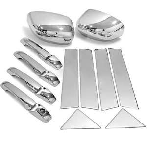 High Quality Chrome Door Handle Mirror Covers Stainless Steel Pillar