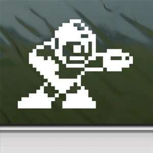 Mega Man White Sticker Classic Car Laptop Vinyl Window