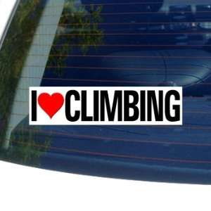 I Love Heart CLIMBING   Window Bumper Sticker Automotive