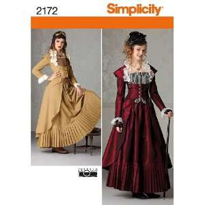 Simplicity Sewing Pattern 2172 Misses Costume, Size R5 (14 16 18 20