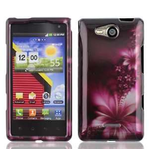 LG Lucid 4G 4 G VS840 VS 840 Rose Red Floral Flowers Design
