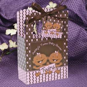 Girls African American   Classic Personalized Baby Shower Favor Boxes