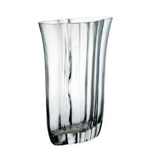 FLARED RIBBED GLASS VASE Patio, Lawn & Garden