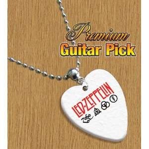 Led Zeppelin Chain / Necklace Bass Guitar Pick Both Sides