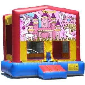 Unicorn Bounce House Inflatable Jumper Art Panel Theme