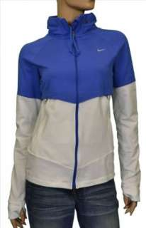 Nike Womens Hooded Running Hoodie Jacket Blue/White Clothing