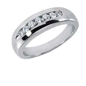 Men s Diamond Ring 7 Round Stones 0.05ct Total 0.35ctw 165