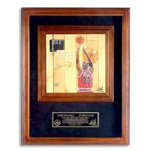 Michael Jordan Signed Painted Floor Shadowbox UDA Sports