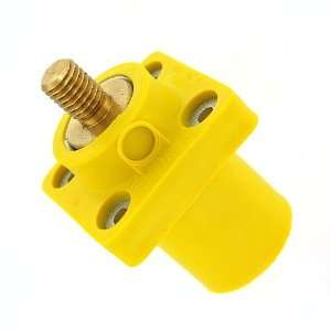 16 Series Taper Nose, Male, Panel Receptacle, 90 Degree, Threaded Stud