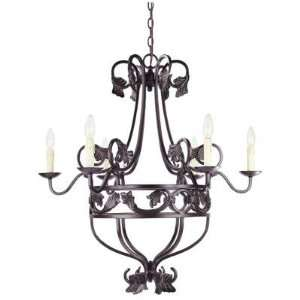 Hampton Bay six light Chandelier Oil Rubbed Bronze Finish