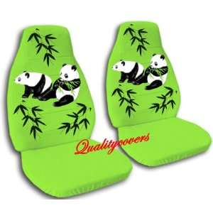 green Panda bear car seat covers, for a 2004 Ford Focus Automotive