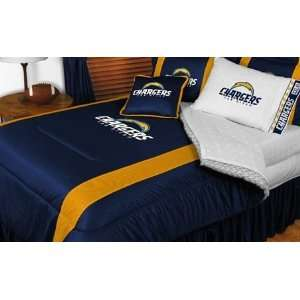 San Diego Chargers NFL Bedding   Sidelines Comforter and Sheet Set