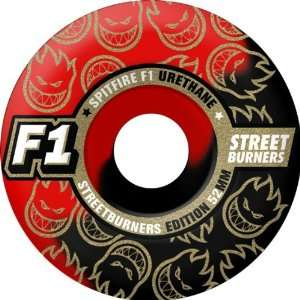 Spitfire F1sb Swirl 54mm Black Red Skate Wheels