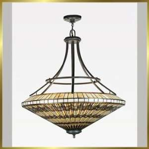 Tiffany Chandelier, QZTFAD2841VA, 8 lights, Antique Bronze, 41 wide X
