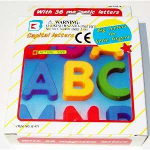 Plastic Magnetic Letters (Set of 36) All Capitals New in