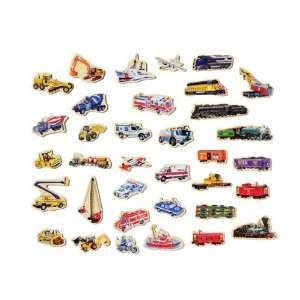 Wooden Vehicles Magnetic Toys & Games