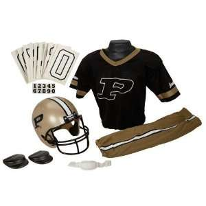Purdue Boilermakers Youth NCAA Deluxe Helmet and Uniform Set (Small