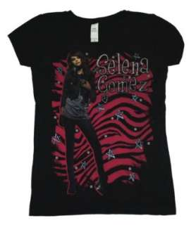 Selena Gomez Singer Zebra Soft Juniors Girls Youth T