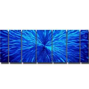 Arctic Blast Modern Abstract Metal Wall Art Painting