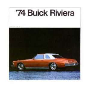 1974 BUICK RIVIERA Sales Brochure Literature Book Piece