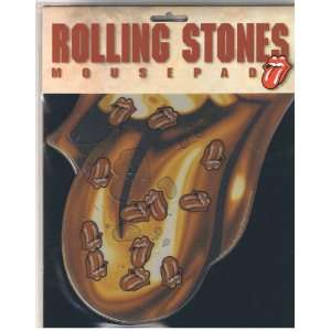 Rolling Stones Gold Tongue Mousepad