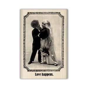 Inkadinkado Wood Mounted Stamp LOVE HAPPENS For