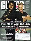 2010 Guitar World Magazine Anniversary Issue Tommy Iommi & Eddie Van