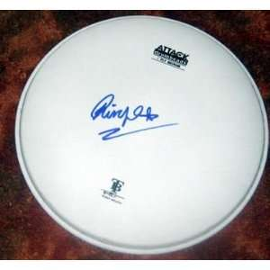 BEATLES ringo starr AUTOGRAPHED signed DRUMHEAD