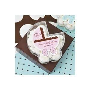 Baby Carriage Acrylic Favor Boxes Baby