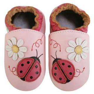 Momo Baby Soft Sole Baby Shoes   Ladybug Pink.Opens in a new window