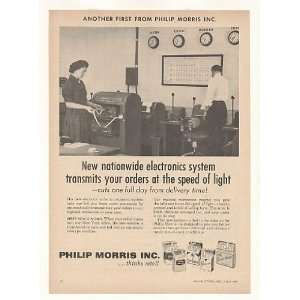 1958 Philip Morris Cigarette Electronic Order System Print
