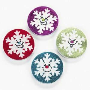 Snowflake Erasers   Basic School Supplies & Erasers & Pencil