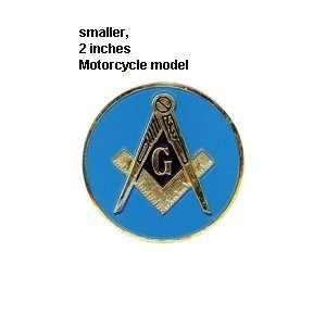 Blue Lodge 2 ALL Metal Masonic Motorcycle / Auto Car Emblem Sticker