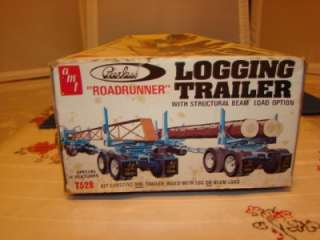 AMT PEERLESS ROADRUNNER LOGGING TRAILER SEMI TRUCK MODEL KIT #T528