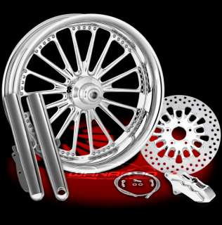 CHROME PERFORMANCE MACHINE DOMINO WHEELS SINGLE DISK KIT HARLEY FLH
